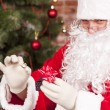 Jewelry ring gift Santa Claus — Stock Photo