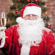 Stock Photo: SantClaus with glass
