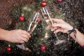 Boże Narodzenie Noworoczny toast — Zdjęcie stockowe