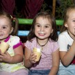 Happy children group with ice cream outdoor — Stock Photo #46259321