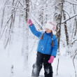 Wonderful child in the snowy woods — Stock Photo #46732829