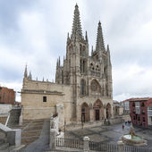 Cathedral and square of Santa Maria in Burgos, Castilla, Spain. — Stock Photo