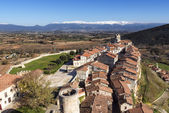 Panoramic views of medieval village of Frias, Burgos, Castilla, — Stock Photo