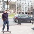 Skateboarder in action on the street. — Stock Photo