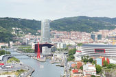 Views of modern Bilbao city, Bizkaia, Vasque Country, Spain. — Stock Photo
