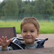 Child in cafe — Stock Photo #12570675