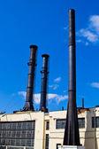 Three black pipes — Stock Photo