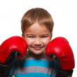 Child with boxing gloves — Stock Photo #15681299