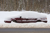 Car in snow — Stock Photo