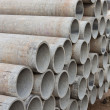 Stacked concrete pipes — Foto de stock #23203566