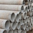 Stacked concrete pipes — Foto de Stock