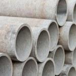 積み上げコンクリート管 — ストック写真