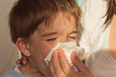 Child's nose clea — Stock Photo