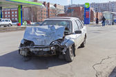 Smashed car — Stock Photo
