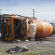 Stock Photo: Result of collision between two trucks