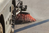 Cleaning streets — Stock Photo
