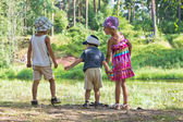 Children together in nature — Stock Photo