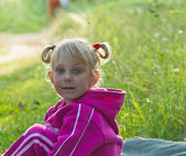Summer portrait of little girl — Stock Photo