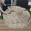 Fastening system on a sailboat — Stok fotoğraf