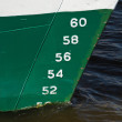 Waterline on the hull — Stock Photo