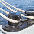 Fastening system on a sailboat — Stock Photo