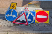 A bunch of road signs — Stock Photo