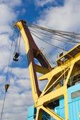 Floating crane — Stockfoto
