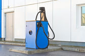 Cleaning equipment at a gas station — Stock Photo