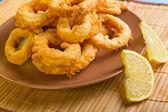 Dish of squid — Stock Photo