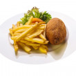 Cutlet with potatoes — Stock Photo #41265185