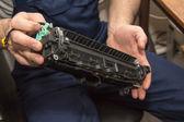 Reparatur laserdrucker — Stockfoto