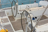 Steering yacht — Stock Photo