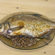 Baked bream — Stock Photo