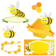 Set of Honey Concept — Stock Vector