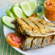Fried salted fish — Stock Photo