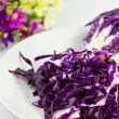 Sliced ​​red cabbage - Stock Photo