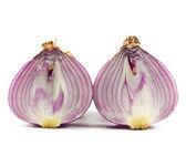 Purple onions were cut . — Stock Photo
