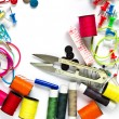 Stock Photo: Colorful Garment accessories.