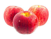 Three red apple. — Stock Photo