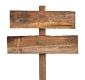 Old wooden sign. — Stock Photo