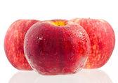 Three red apple . — Стоковое фото