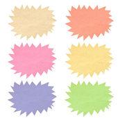 Kleur zeepbel label gerecycleerd papier. — Stockfoto
