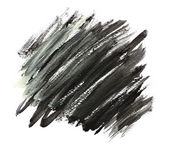 Abstract black watercolor hand painted. — Stock Photo