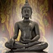 Buddha statue on a grunge background. — Stock Photo #17453491