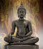 Posąg buddy na tle nieczysty. — Zdjęcie stockowe