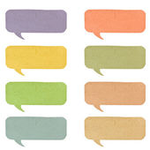 Color bubble tag recycled paper on white background. — Stock Photo