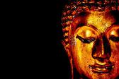 Old golden Buddha statue — Stock Photo
