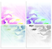 Set water color grunge background. — Stock Photo