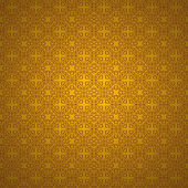 Heart pattern on a gold background. — Stock Photo