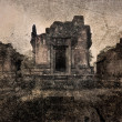 Khmer Temple, the old photos. - Stock Photo